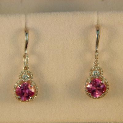 Pink Sapphire Dangles