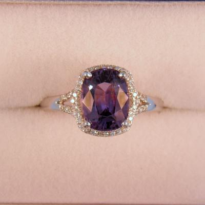 Purple Spinel Cocktail Ring