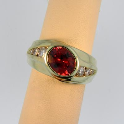 Red Spinel Mens Ring