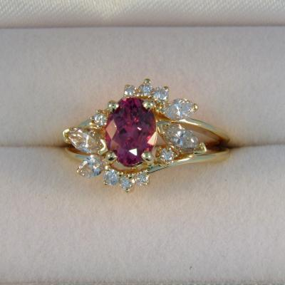 Renewed Pink Sapphire Wedding Set