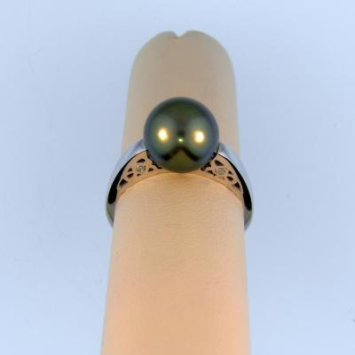 Tahitian Pearl Solitaire Ring
