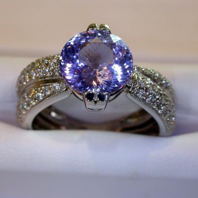Tanzanite Swirl Ring