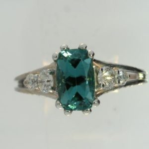 Teal Tourmaline Ring