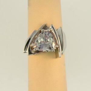 Trillion White Sapphire Ring
