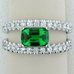 Tsavorite Band Ring