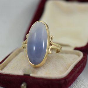 Vintage Ellensburg Blue Agate Ring 1