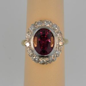 Wow  Rhodolite Cocktail Ring