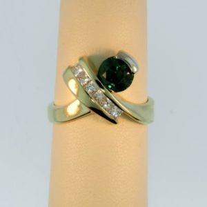 X Tsavorite Ring