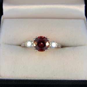 Zircon Three Stone Ring