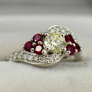 diamond ruby dream ring