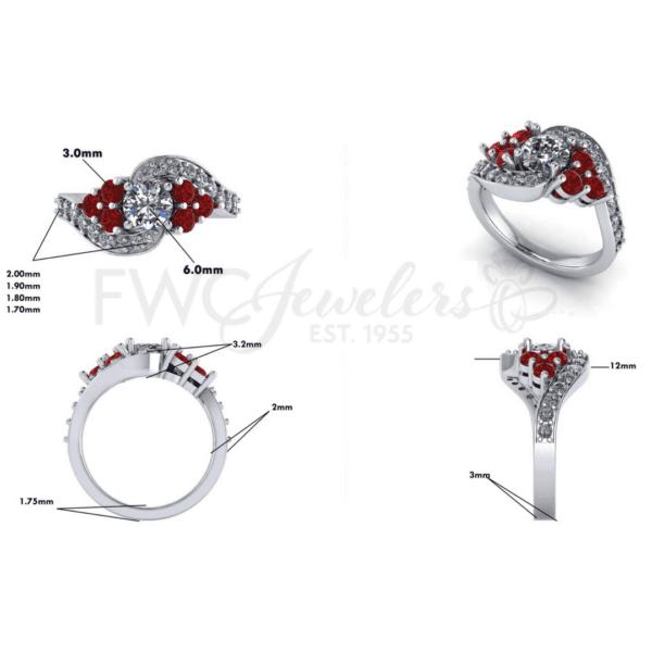 diamond ruby dream ring design sheet