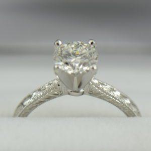 1.50ct GIA SI2 G EX EX EX Diamond Engagement Ring D