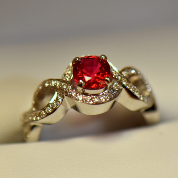 Namya Jedi Red Spinel and Diamond Ring