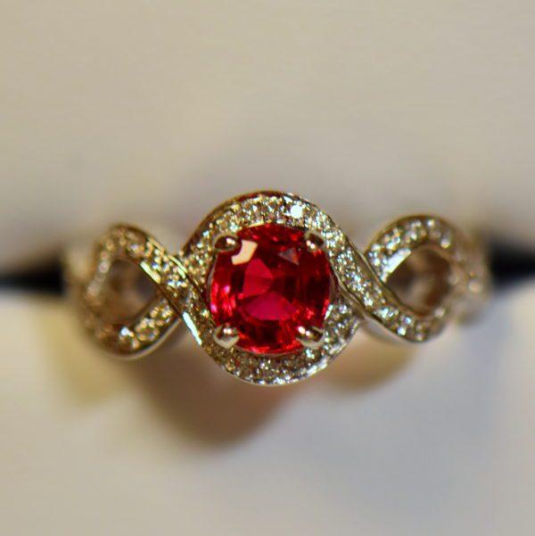Namya Jedi Red Spinel and Diamond Ring 2