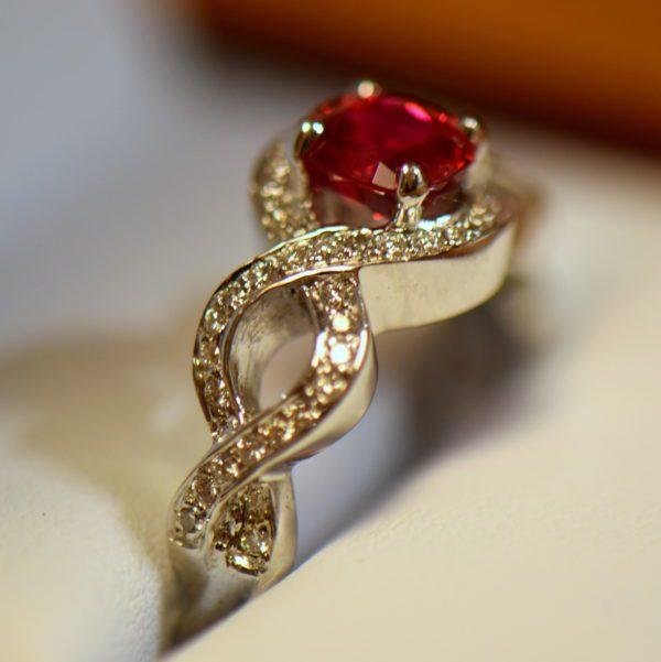 Namya Jedi Red Spinel and Diamond Ring 3