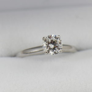 75ct Certified Round Diamond Solitaire I1 G