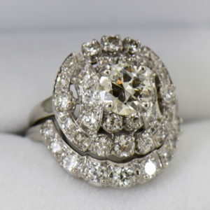 Fabulous Mid Century Diamond Wedding Set 3cttw Diamonds 2