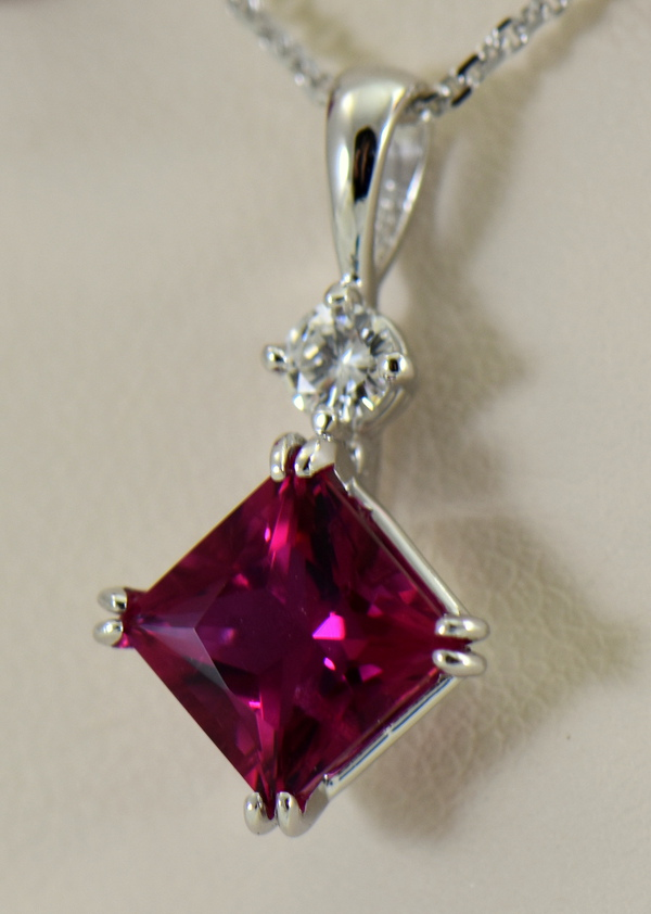 Pinkish Red Rubellite Tourmaline Pendant  Earrings Set 4
