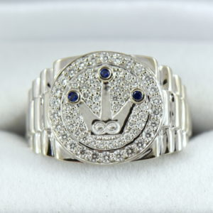 Custom Gents Rolex Inspired Diamond RIng.JPG