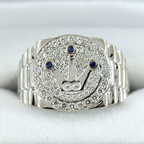 Custom Gents Rolex Inspired Diamond RIng.JPG