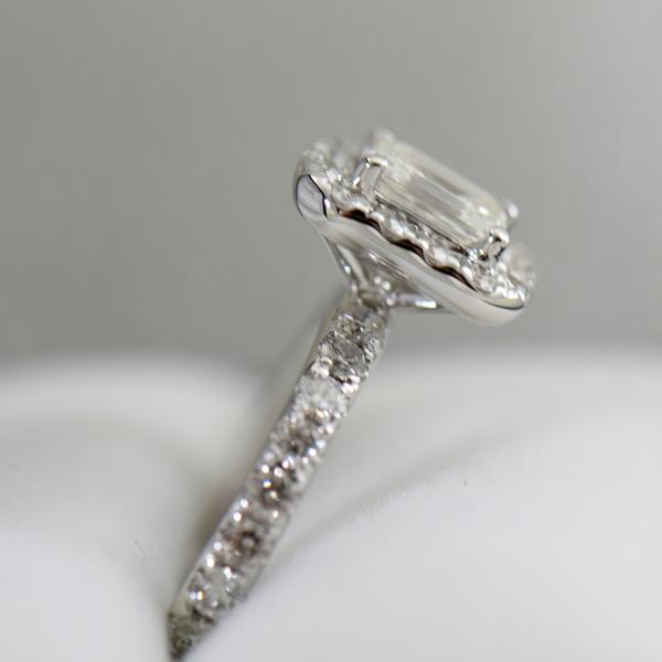 Emerald Cut Diamond Halo Engagement Ring .70ct Vs1 H 3.JPG