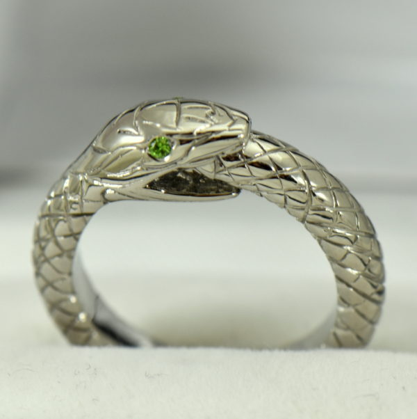 Custom Gent s Snake Ring with Demantoid Eyes 2.JPG