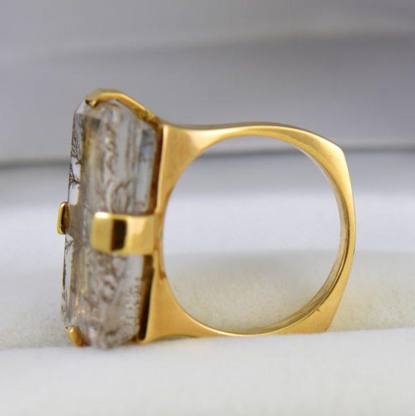 Estate Custom 18k Dendritic Agate Gents ring 3.JPG
