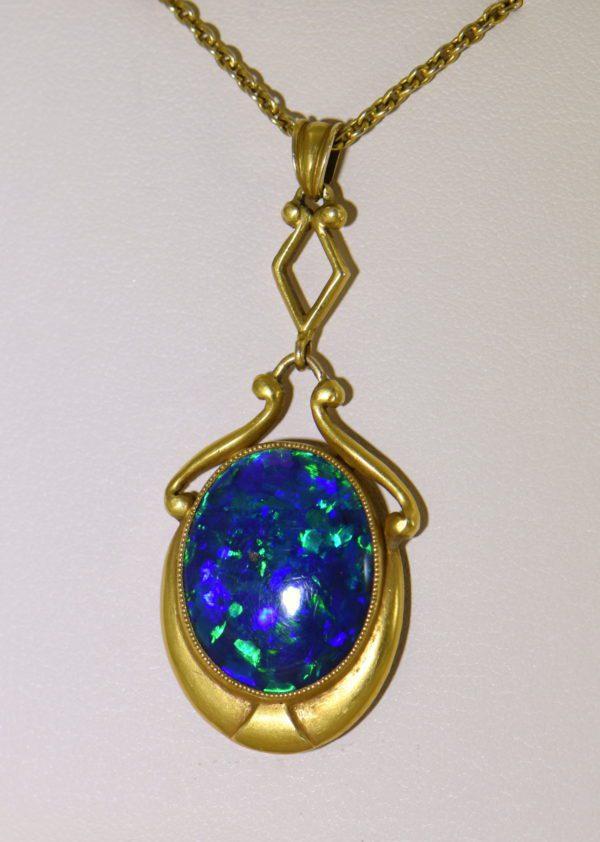 Gina Nouveau Black Opal Necklace 1.JPG