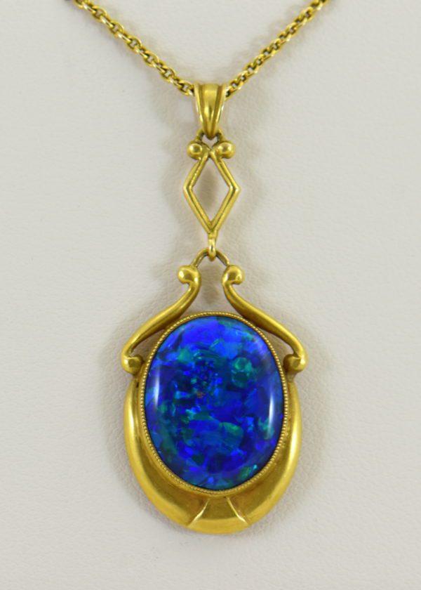 Gina Nouveau Black Opal Necklace 2.JPG