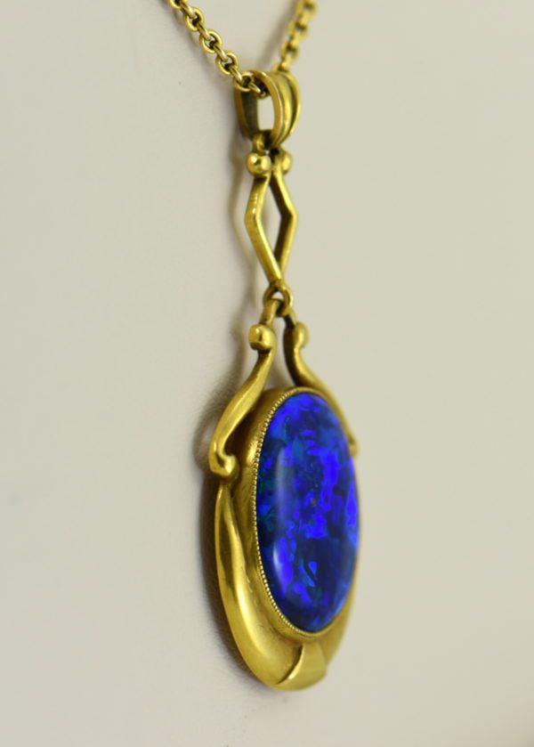 Gina Nouveau Black Opal Necklace 4.JPG