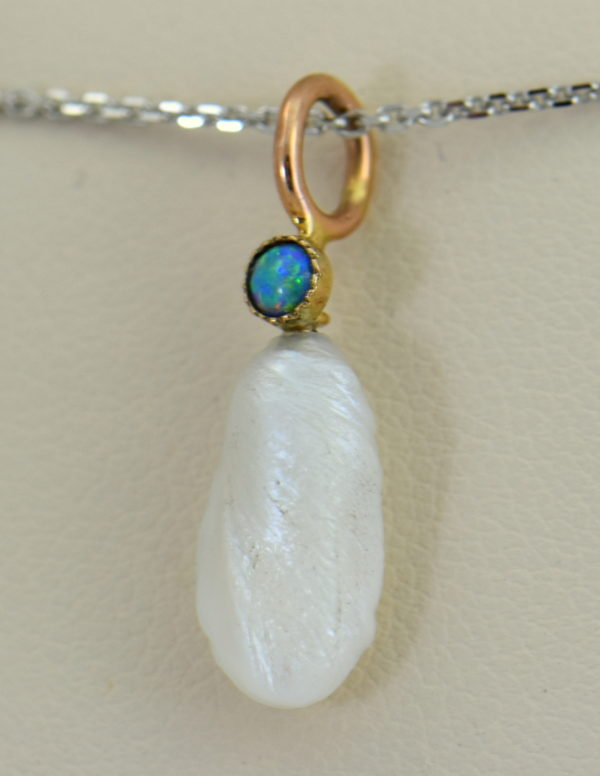 Mississippi River Pearl  Opal Pendant Pin Conversion.JPG
