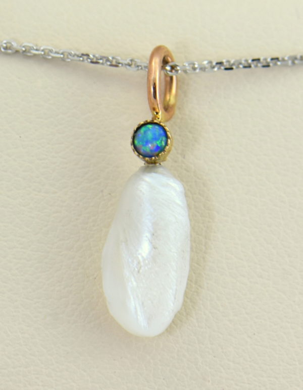 Mississippi River Pearl  Opal Pendant Pin Conversion 2.JPG