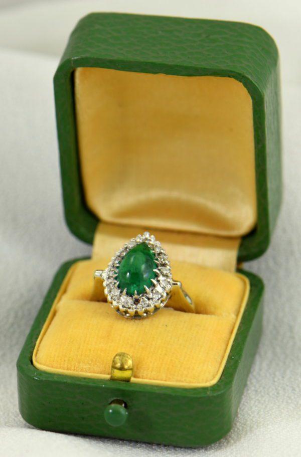 Pear Cabochon Emerald Halo Ring 3.JPG