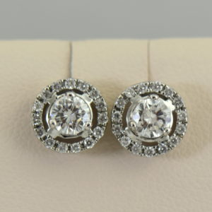 Round Diamond Halo Stud Earrings White Gold.JPG