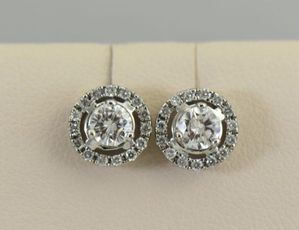 Round Diamond Halo Stud Earrings White Gold.JPG