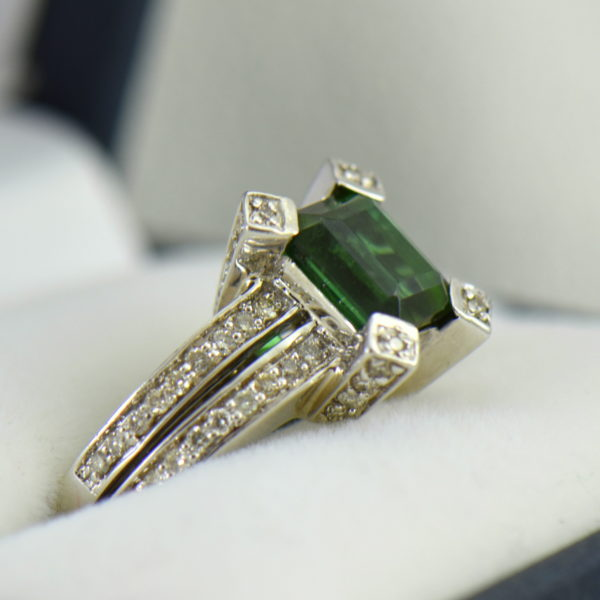 modern estate emerald cut green tourmaline ring 2.JPG