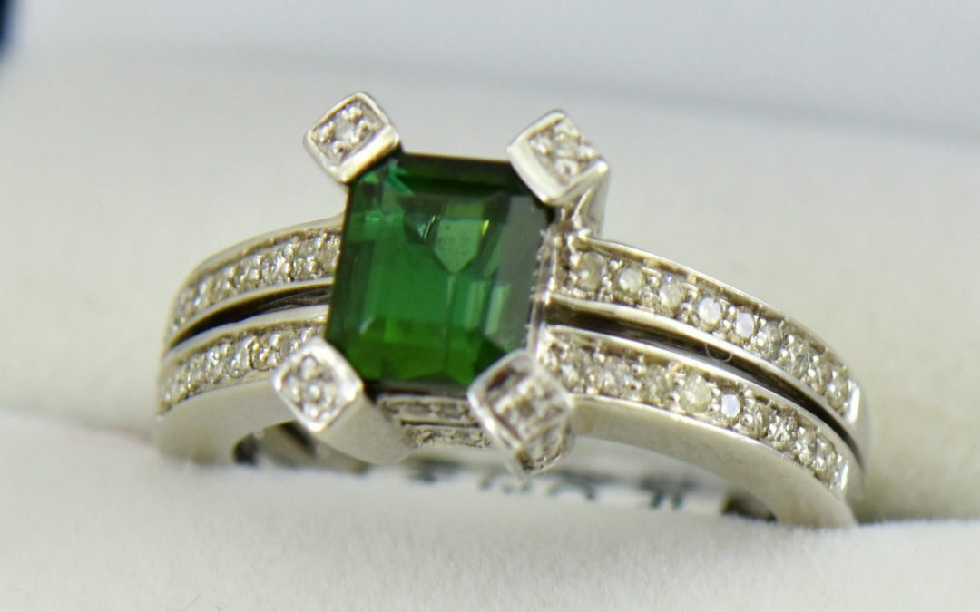 modern estate emerald cut green tourmaline ring 3.JPG