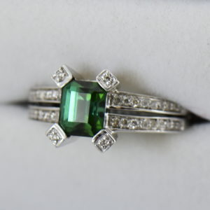 modern estate emerald cut green tourmaline ring 4.JPG
