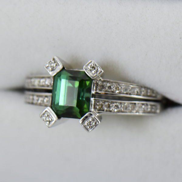modern estate emerald cut green tourmaline ring 4.JPG