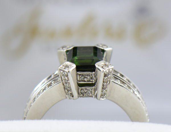 modern estate emerald cut green tourmaline ring 5.JPG