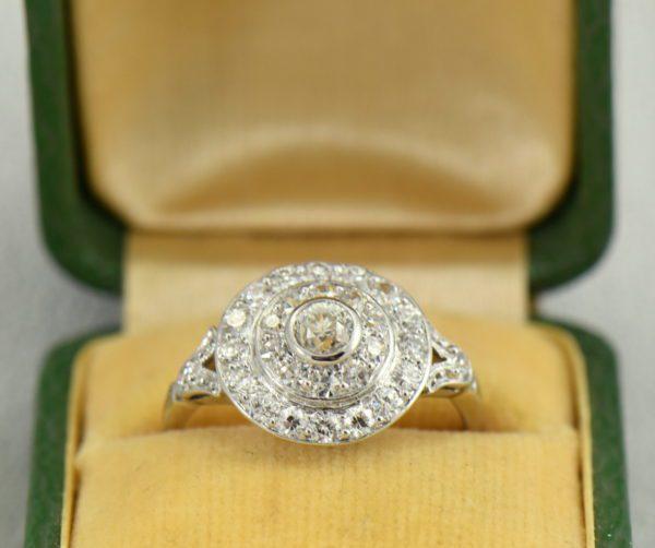 platinum art deco diamond target ring.JPG