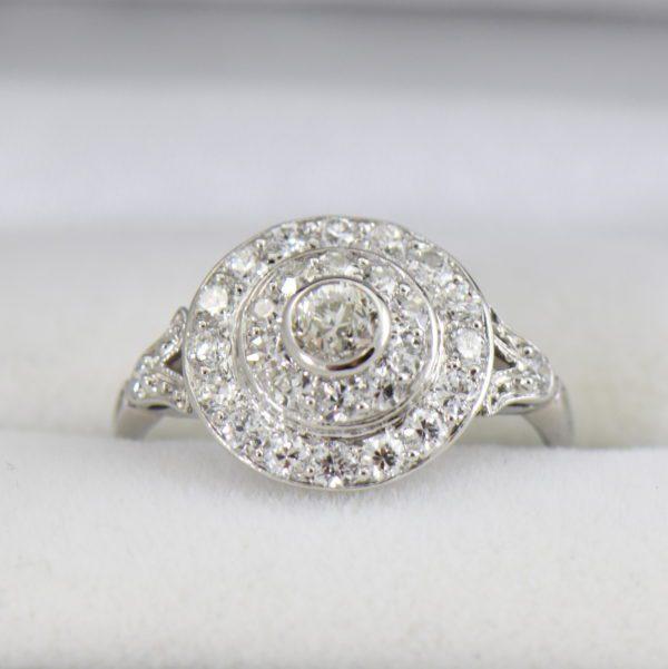 platinum art deco diamond target ring 5.JPG