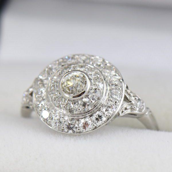 platinum art deco diamond target ring 6.JPG