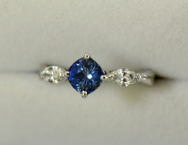 Blue Bicolor Sapphire  Marquise Diamond Engagement Ring 3.JPG
