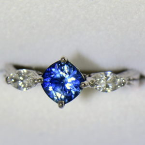 Blue Bicolor Sapphire  Marquise Diamond Engagement Ring 5.JPG