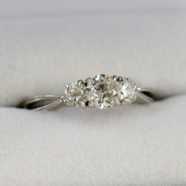 Old European Cut Diamond 3 Stone Ring.JPG 1