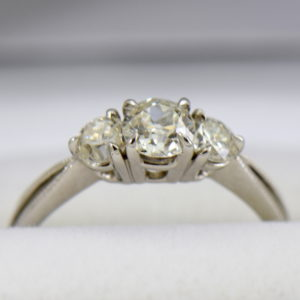 Old European Cut Diamond 3 Stone Ring 4.JPG