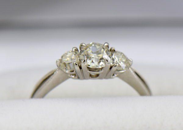 Old European Cut Diamond 3 Stone Ring 4.JPG