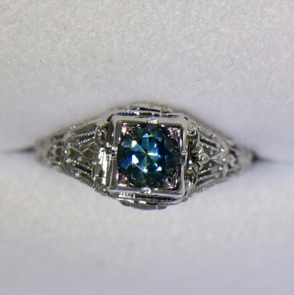 Teal Montana Sapphire Art Deco Engagement Ring 2.JPG