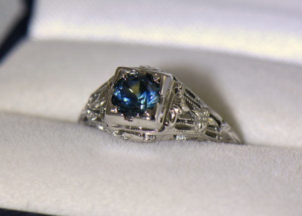 Teal Montana Sapphire Art Deco Engagement Ring 5.JPG